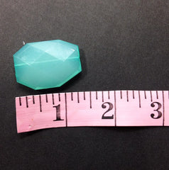Robin's Egg Blue 35x24mm Faceted Acrylic Slab Beads - for jewelry or bangle making - Swoon & Shimmer - 4