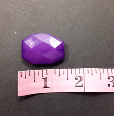 Deep Purple Slab Beads - Faceted nugget octagon beads - 35x24mm Beads - Swoon & Shimmer - 2