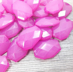 Large Pink Beads - 35x24mm slab nugget beads - acrylic jumbo craft supplies - Swoon & Shimmer - 1