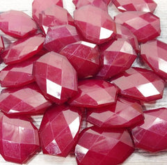Marsala 35x24mm Large faceted beads - sangria jewelry making and craft supplies - Swoon & Shimmer - 2