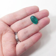 Emerald Green Translucent acrylic beads - great for bangles, wraps, necklaces, and more! - Swoon & Shimmer - 5
