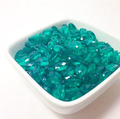Emerald Green Translucent acrylic beads - great for bangles, wraps, necklaces, and more! - Swoon & Shimmer - 2