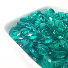 Emerald Green Translucent acrylic beads - great for bangles, wraps, necklaces, and more! - Swoon & Shimmer - 4