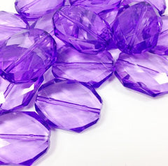Light Purple Large Translucent Beads - Faceted Nugget Bead - FLAT RATE SHIPPING - Swoon & Shimmer - 3
