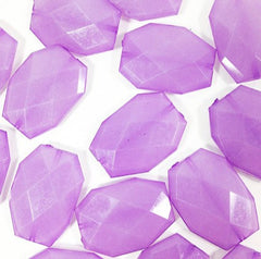 Large Purple Beads - 35x24mm slab nugget beads - acrylic jumbo lilac lavender craft supplies - Swoon & Shimmer - 2