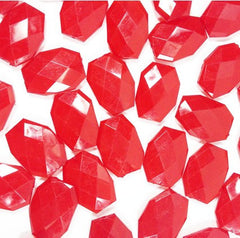 35x24mm Cherry Red Slab Nugget Beads - Beads for Bangle Making or Jewelry Making - Swoon & Shimmer - 2