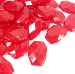 35x24mm Cherry Red Slab Nugget Beads - Beads for Bangle Making or Jewelry Making - Swoon & Shimmer - 1