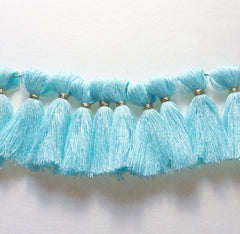 Robin's Egg Blue Tassel for Jewelry Making - Necklaces, Bracelets, or Earrings! 2 Inch Size - Swoon & Shimmer - 2
