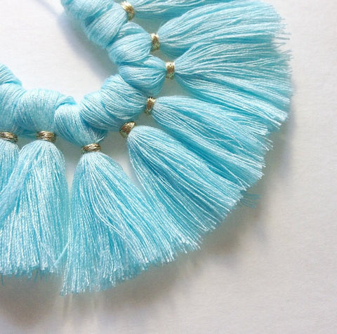 Robin's Egg Blue Tassel for Jewelry Making - Necklaces, Bracelets, or Earrings! 2 Inch Size - Swoon & Shimmer - 1