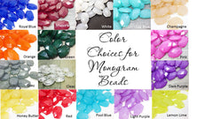 Gold Monogram Beads in 16 Color Choices! Faceted, Gorgeous Beads - Pick your letter and color! - Swoon & Shimmer - 5