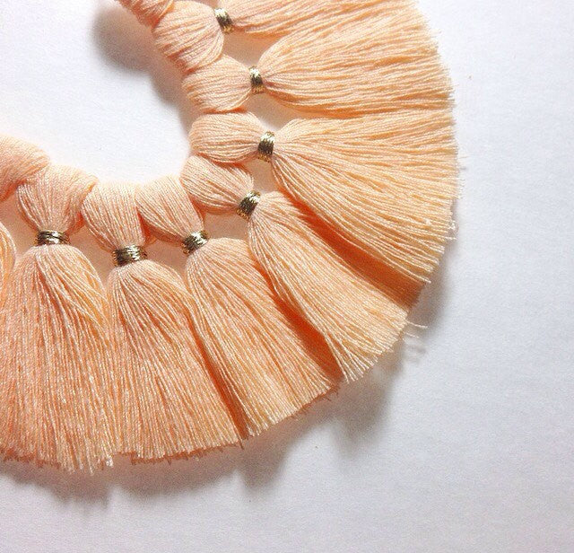 Peach with Gold Tassel for Jewelry Making - Necklaces, Bracelets, or Earrings! 2 Inch Size - Swoon & Shimmer - 1