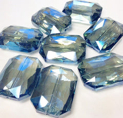 34mm Glass Crystal in dark blue - faceted crystals for jewelry creation, bangle making - Swoon & Shimmer - 3