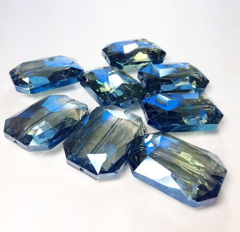 34mm Glass Crystal in dark blue - faceted crystals for jewelry creation, bangle making - Swoon & Shimmer - 1