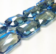 34mm Glass Crystal in dark blue - faceted crystals for jewelry creation, bangle making - Swoon & Shimmer - 2