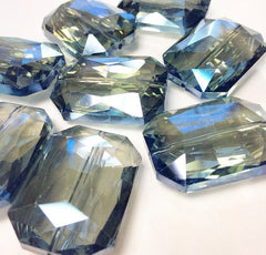34mm Glass Crystal in dark blue - faceted crystals for jewelry creation, bangle making - Swoon & Shimmer - 5