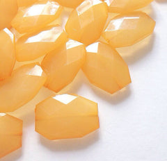35x24mm Orange Creamsicle Large faceted acrylic nugget beads - Swoon & Shimmer - 1