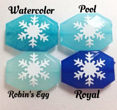 White Snowflake Beads in 4 Colors - faceted gem beads! - Swoon & Shimmer - 3
