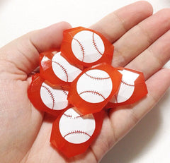 Baseball on your choice of bead color - jewelry making, bangle bracelet, gift, handmade beads - Swoon & Shimmer - 2