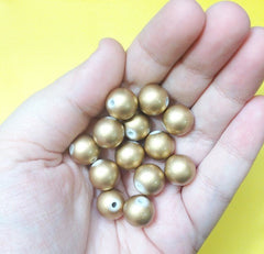 12mm Gold Circular ball Beads - Flat Rate shipping - Swoon & Shimmer - 3