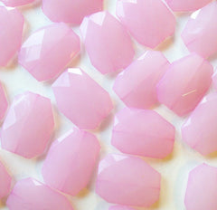 Large Blush Pink faceted beads - acrylic pink beads for jewelry making - 39mm size - Swoon & Shimmer - 2