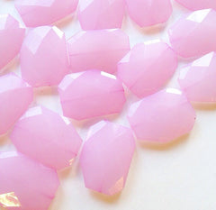 Large Blush Pink faceted beads - acrylic pink beads for jewelry making - 39mm size - Swoon & Shimmer - 1