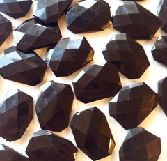 XL Black faceted beads - acrylic beads for jewelry making - 39mm size - Swoon & Shimmer - 5