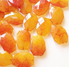 35x24mm Watercolor Juicy Nectarine Orange Slab Nugget Beads - Beads for Bangle Making or Jewelry Making - Swoon & Shimmer - 4
