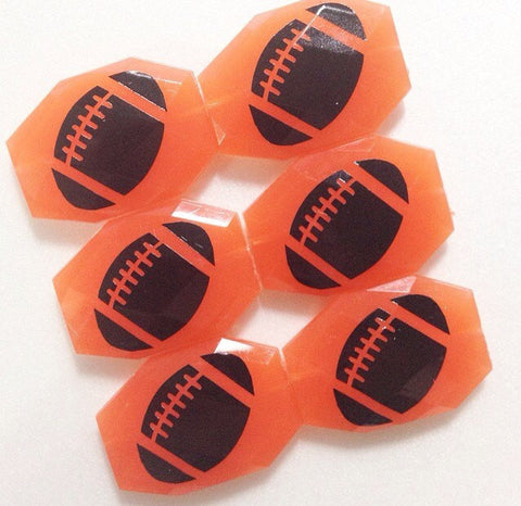 Football on your choice of bead color - jewelry making, bangle bracelet, gift, handmade beads - Swoon & Shimmer - 1