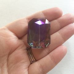34mm Glass Crystal in Purple Coffee - faceted crystals for jewelry creation, bangle making - Swoon & Shimmer - 2