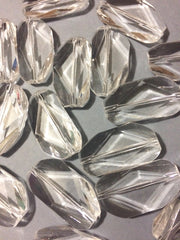 Large Clear Gem Stone Beads - Acrylic Beads that look like stained glass for Jewelry Making-Necklaces, Bracelets, or Earrings! 45x25mm Stone - Swoon & Shimmer - 1