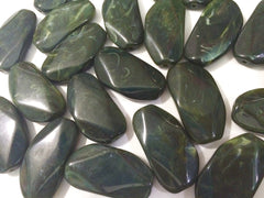 Large Olive Green Gem Stone Beads - Acrylic Beads that look like stained glass for Jewelry Making-Necklaces, Bracelets, or Earrings! 45x25mm - Swoon & Shimmer - 3