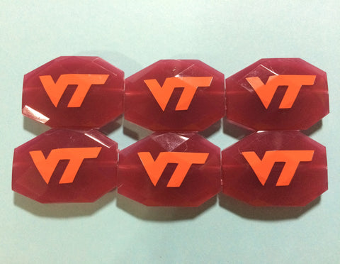 Virginia Tech Hokies Blacksburg Logo Beads