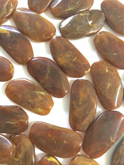 Large HOT COCOA brown Gem Stone Beads - Acrylic Beads that look stained glass for Jewelry Making-Necklaces, Bracelets, or Earrings! 45x25mm - Swoon & Shimmer - 2