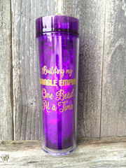Building my BANGLE EMPIRE one Bead at a time - 16 Ounce Skinny Tumbler - Shimmer Sips! - Crafter's Gift - Jewelry Maker - Swoon & Shimmer - 1