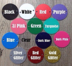 Monogram Disc Beads - 3 Letter Circle Monogram - Pick your Disc Color AND font color! - 1.25 Inch Beads for Bangle Making - Swoon & Shimmer - 3