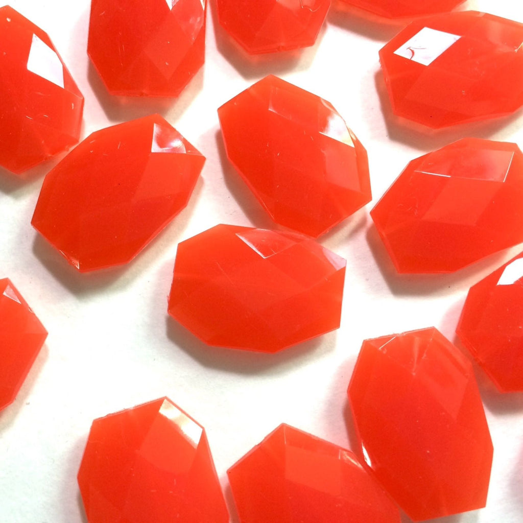 35x24mm Orange Slab Nugget Beads - Beads for Bangle Making or Jewelry Making - Swoon & Shimmer - 1