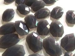 35x24mm Dark Gray Large faceted acrylic nugget beads - Swoon & Shimmer - 3