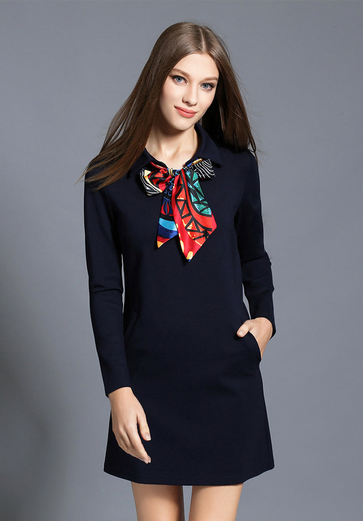 7986bf5db5fe Scarf Shift Dress - Ferlicious