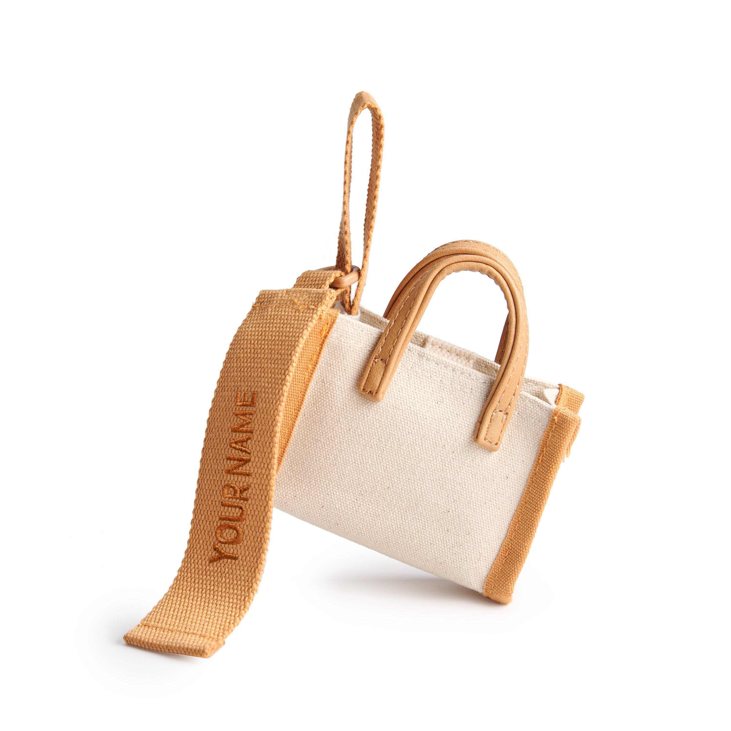 Estela Bag Tag - Beige/Nude Brown
