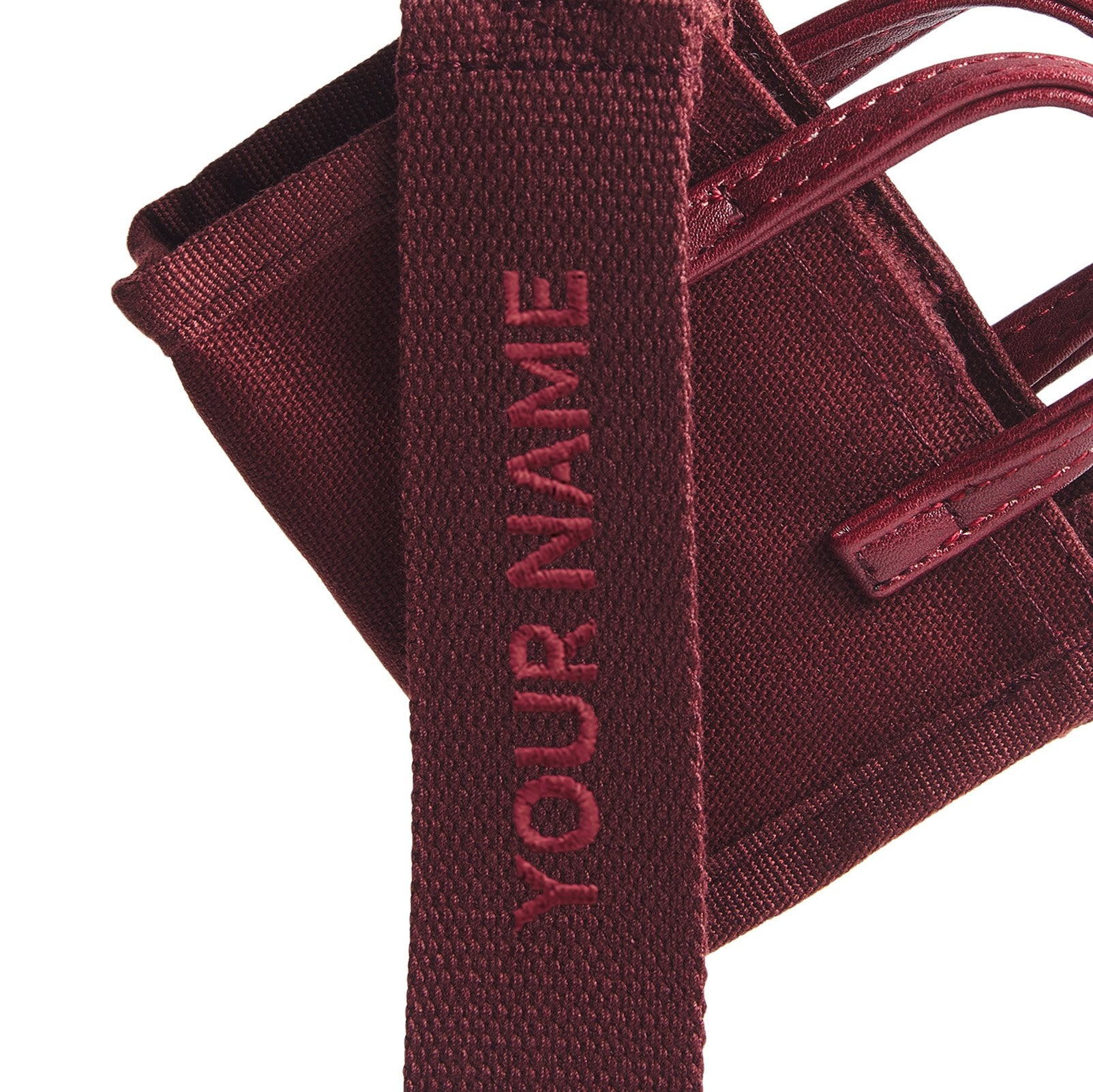 Estela Bag Tag - Maroon