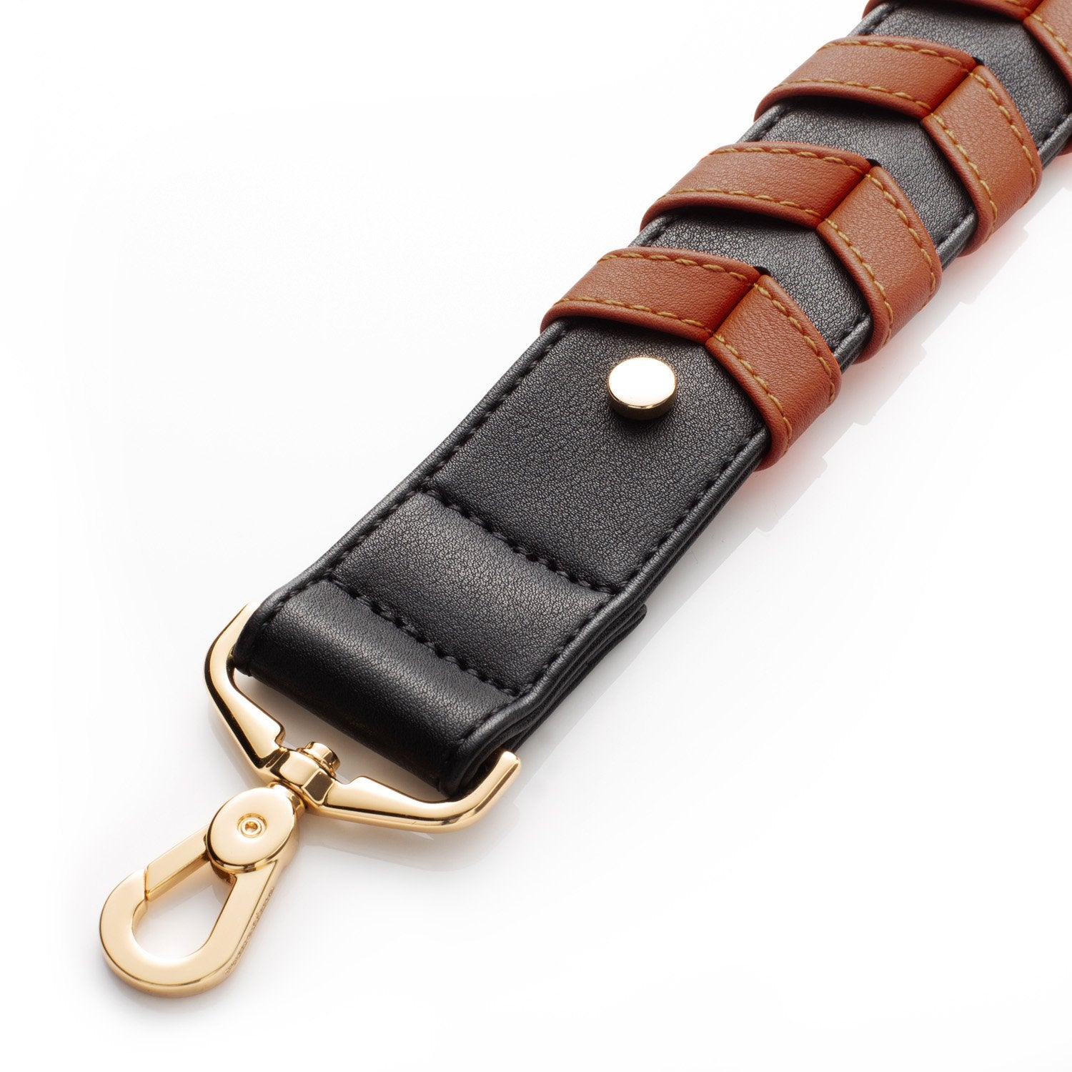 BRAIDED STRAP - DARK BROWN