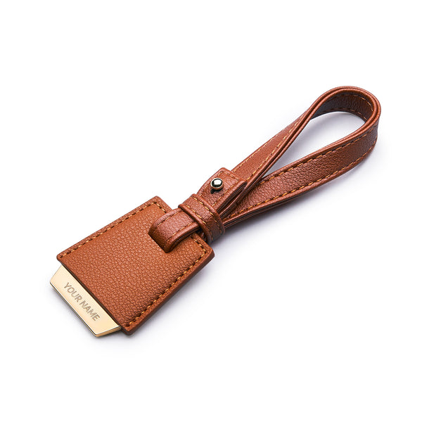 COLEY BAG TAG - BROWN