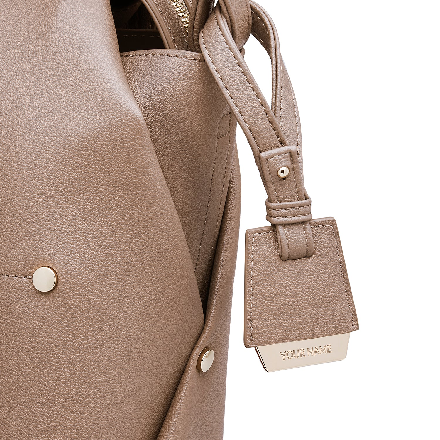 COLEY BAG TAG - MOCHA