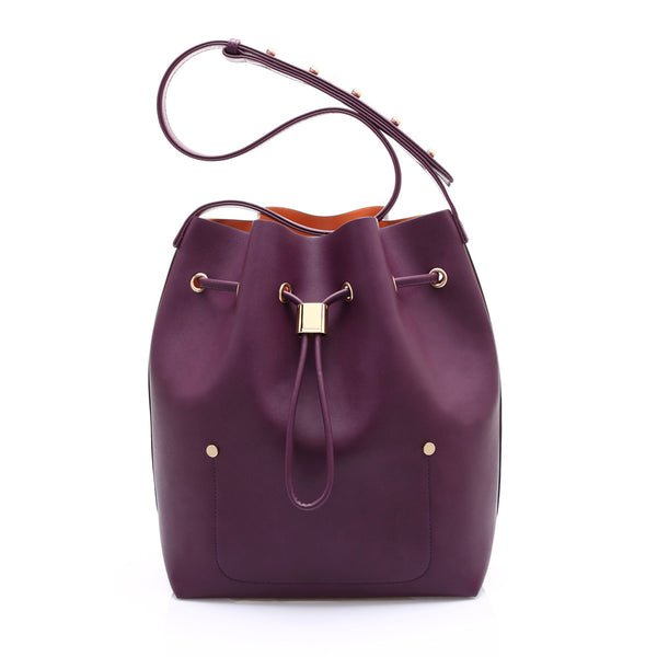 sometime niko niko bag tyrian purple front