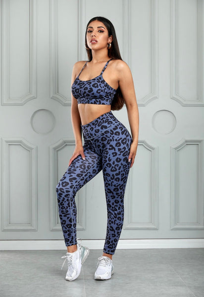 Sweat Now, Shine Later Leopard Workout Sports Bra