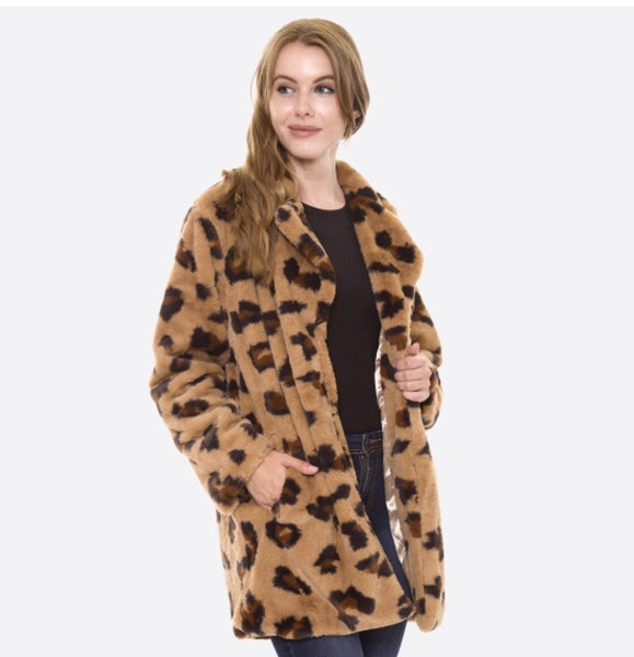 Hear Me Roar Leopard Print Coat