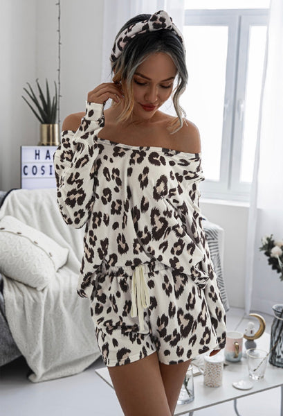 You Will Find Sunshine Leopard Loungewear Set