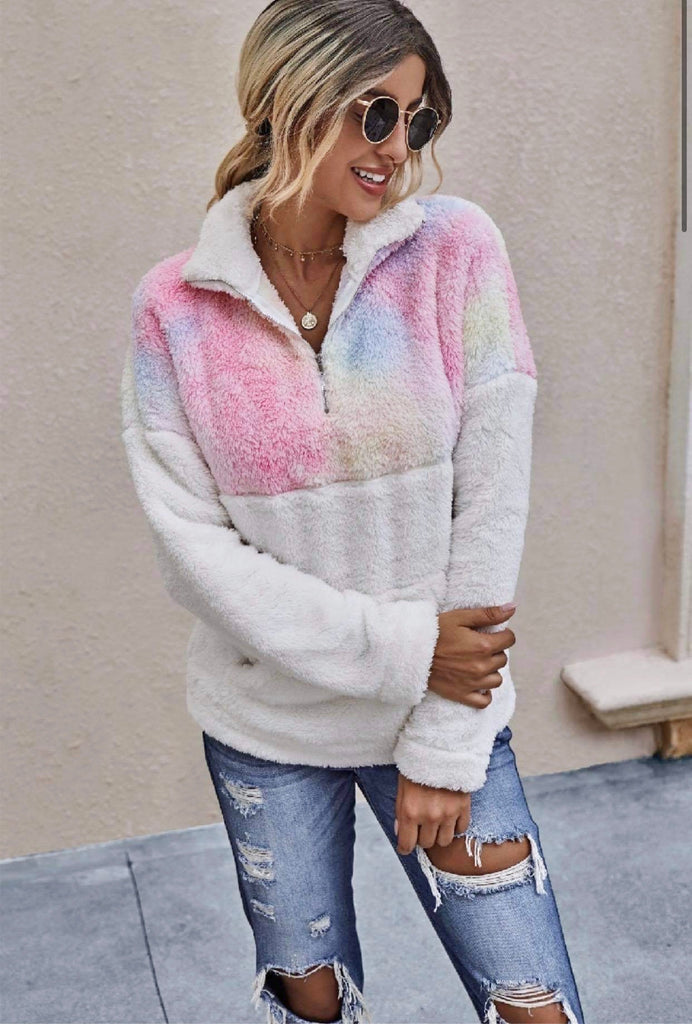 Happiness Is A Hot Drink On A Cold Day Fuzzy Pullover