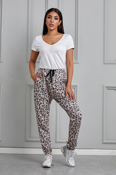Always On The Run Leopard Jogger Pants