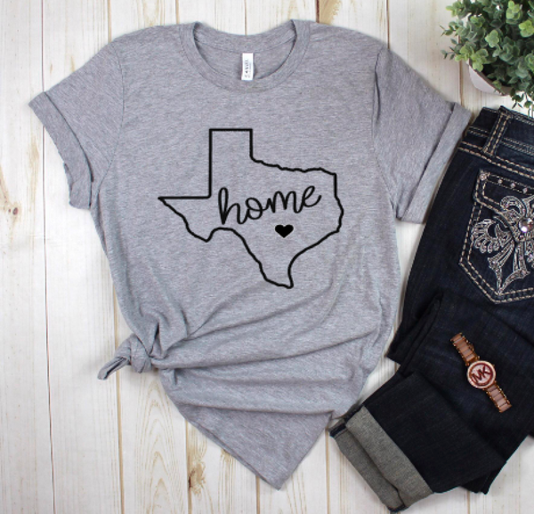 Texas Is Where The Heart Is Tee